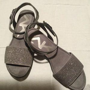 NWOT Silver Anne Klein Sport Sandals